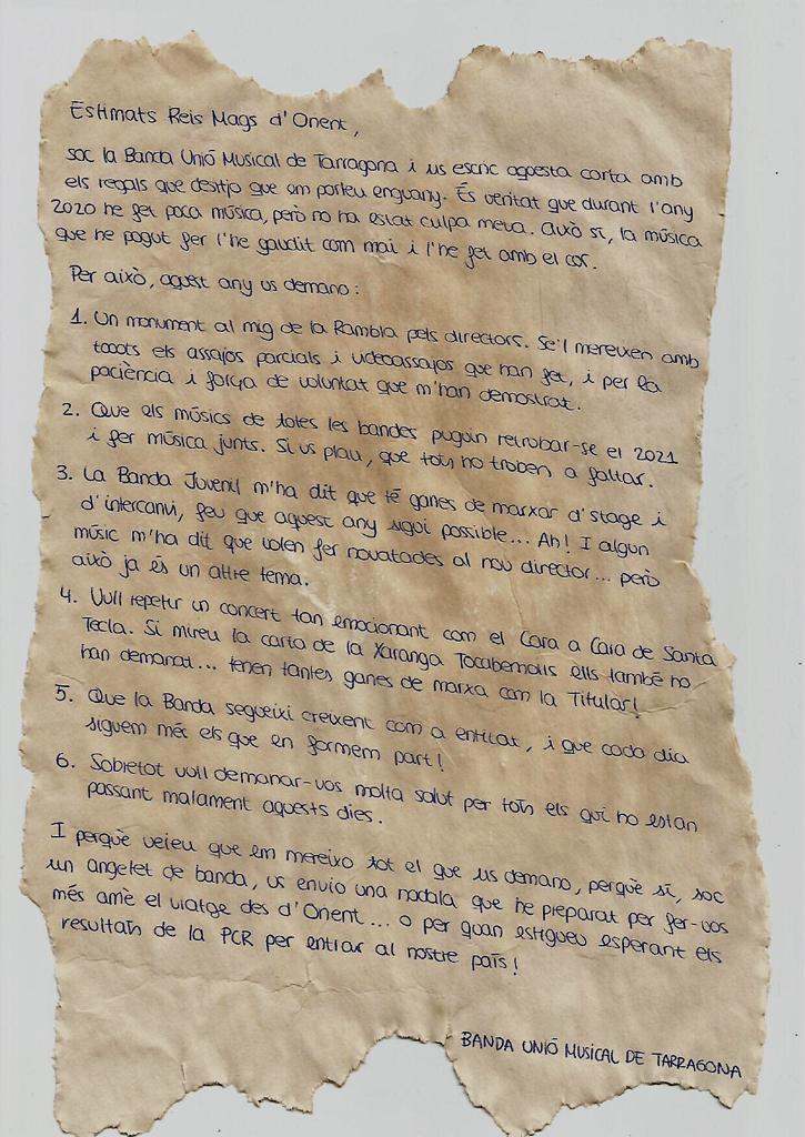 Carta als Reis