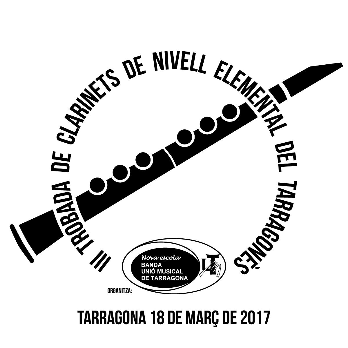 Logotip de la III Trobada de clarinets del Tarragonès